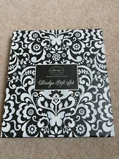 Bridge Set Butterfly Damask Black   2 x Packs cards and one  score pad NEW