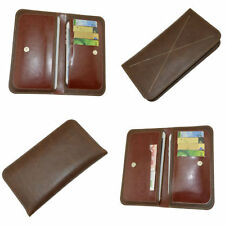 Leather Patterned Universal Mobile Phone Wallet Cases