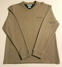 Columbia Mens Long Sleeve Pullover V-Neck Sweater Beige Size L