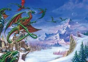 Vlies Fototapete DRACHEN 3D Gothic Alchemy Drache Fantasy Kinder MODERNE 84