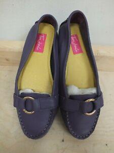 Ladies Purple Joules Driving Shoes - Size 5 (Nee]