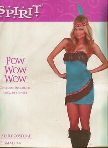 Womens Pow Wow Native American Indian Adult 2 Pc Sexy Costume ~Halloween~
