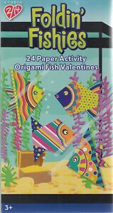 Foldin' Fishies Valentine Cards for Kids - Pkg. of 24 (31681)