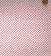 Fanciful Friends pink cream checks David fabric