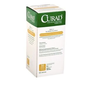 "Curad CUR253590 Xeroform Petrolatum Gauze Dressing 5"" x 9"" - Box of 50 Exp 2023"
