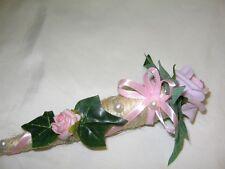 Sisalspitztüten als Tischaufleger,  ROSA  Hochzeit Kommunion Taufe Verlobung