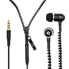 3.5mm In-Ear Zip Zipper STEREO Hands Free Headphones Headset + Mic Earphones