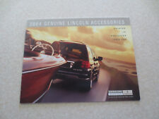 2004 Ford Lincoln accessories advertising booklet - US