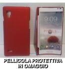 Pellicola + custodia BACK cover RIGIDA ROSSA per LG Optimus L9 P760
