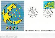 1990**ENVELOPPE ILLUSTREE**FDC 1°JOUR**CARTE EUROPE ET ETOILES**TIMBRE Y/T 104