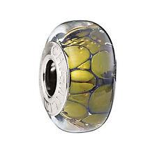 Authentic Chamilia Murano Glass Gold Tone Collection Twilight Gold European Bead