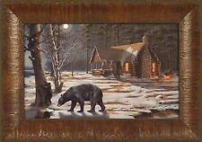 SWEET CURIOSITY by Mary Pettis Bear Mama Cubs Syrup Tap Cabin 11x15 FRAMED PRINT