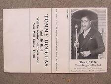 KANSAS CITY JAZZ Original 1940s  photo flyer TOMMY DOUGLAS Ork (CHARLIE PARKER)