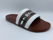Bally Animals White Black And Red Rubber Sandals size US 8 Made in Italy