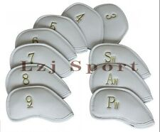 Usa 10Pcs White Iron HeadCovers For Ping s56 g25 i20 g20 Black Dot Cleveland 588