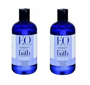 Lot of 2 EO Serenity bubble bath french lavender with aloe ~ 12 oz each