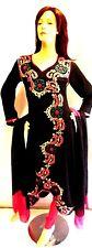 Shalwar kameez black eid pakistani designer salwar sari abaya hijab suit uk 8