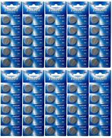 50 x CR2032 3V Lithium Batterie auf 10 Blistercard a 5 Stück Eunicell