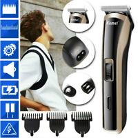 KEMEI Electric Cordless Hair Clipper Beard Trimmer Shaver Razor Haircut US/EU