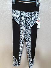 (NWT) Jessica Simpson Black Leopard Active Capri Leggings Size X-Small