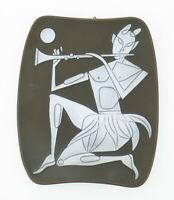 Knabstrup Piotr Baro (1924-1998) Keramik Wandplatte Mid Century scandi style mcm