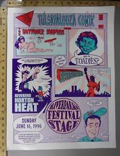 Concert Poster Tulsapalooza Comix Butthole Surfers Supersuckers David Dean MAD