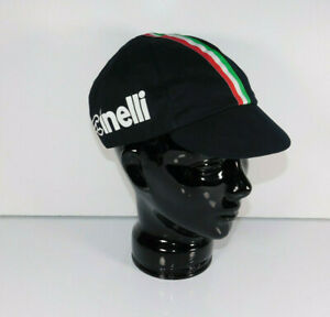 CINELLI Genuine Merchandise Italia Black Italy Flag Stripe Cycling Cap Hat