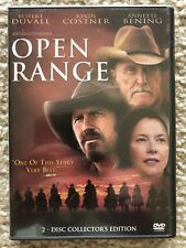 Open Range (DVD, 2004, 2-Disc Set) Very Good Condition