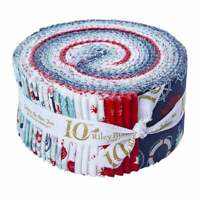 "Deep Blue Sea, Rolie Polie, 2.5"" Fabric Quilting Strips, RP-9030-40, J04"