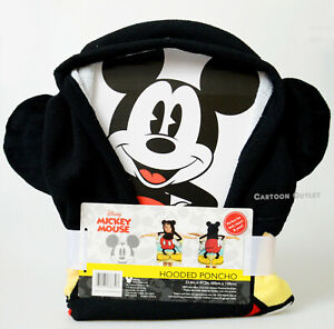 Disney Mickey Mouse Ears Beach Bath Poncho Hooded Towel NEW Kids Birthday Gift