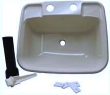 RV Boat Mobile Home White Bathroom Lavatory Sink Kit Stopper Tail Piece