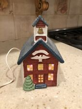 Americana Porcelain Collectable School House Pre-Owned