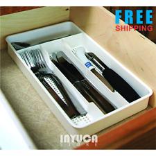 Cutlery Tray Organizer Flatware Utensils Storage Kitchen Drawer Travel Trailer