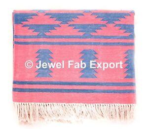 Indian Cotton Handmade Large Floor Area Rug Kilim Yoga Pray Mat Bedroom Carpet