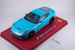 1/18 BBR Ferrari F12 BERLINETTA BABY BLUE DELUXE EDITION AS IS