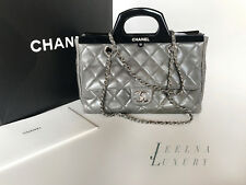 Auth Chanel Delivery Small Grey Calfskin Tote bag $5000