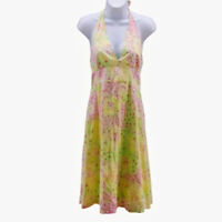 Lilly Pulitzer Women's Halter Dress Sz 6 Fillies for Lilies Horse Floral Cotton