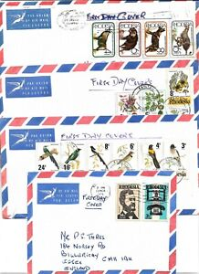 RHODESIA 1976 1977 PLAIN FIRST DAY COVERS
