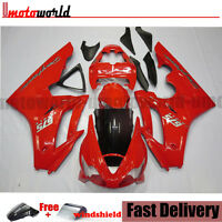 ABS Plastic RED Bodywork Injection Fairing Kit For Triumph Daytona 675 06-08 07