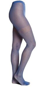 Wolford Brillant Bastille Blue Net Tights Size S Small New