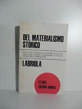 Del materialismo storico, Labriola, Le idee Editori Riuniti, 1974