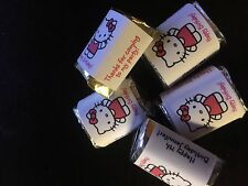 60 Personalized hello kitty Birthday Party Candy Wrappers Nugget favors stickers