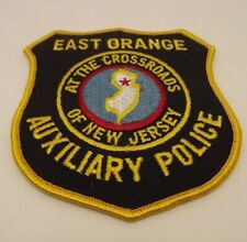 "East Orange Auxiliary Police At The Crossroads New Jersey Badge Patch 4""x4.25"""