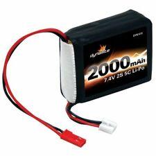 Dynamite 7.4V 2000mAh 2S 5C LiPo Receiver Pack: 1/8 - O-DYN1419