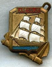 1960s Porte-Hélicoptère La Resolue / Resolution Helicopter Carrier Badge
