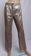 Randolph Duke The Look 100% Leather Distressed Space Look Silver Brown Pants 6