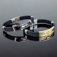 Scorpion Bangles&Bracelets Charm Silicone Men's Gift Jewelry Steel Stainless