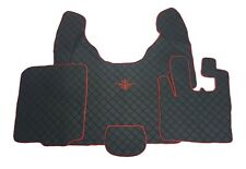 Floor Mats For DAF XF 105 AUTOMAT R H Drive BLACK/RED Trim and logo Eco Leather