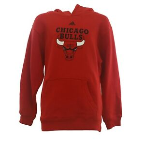 Chicago Bulls Official NBA Adidas Apparel Kids Youth Size Hooded Sweatshirt New