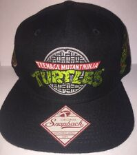 New Teenage Mutant Ninja Turtles Sewer Logo Snapback Hat Black